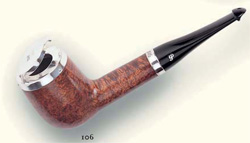 Peterson smoking pipe silvercap natural hinged lid 106